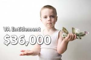 VA entitlement is $36,000