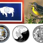 wyoming state seal fag coin bird